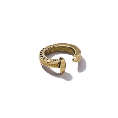 G&B - Railroad Spike Ring Brass