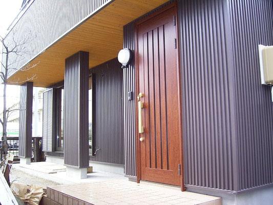 岐阜のデザイナーズ住宅 左官アート