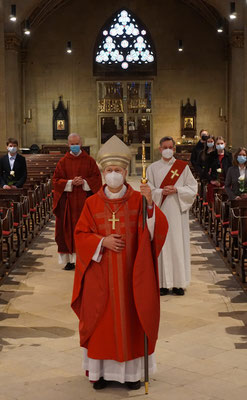 Weihbischof Zekorn mit Propst Serries, Diakon Wellenkötter