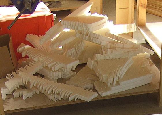 Styropormodelle als Volumenstudie