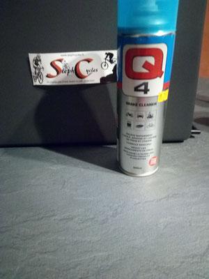 Q4 Spray break cleaner dégraissant sans acétone 500ml   9€95
