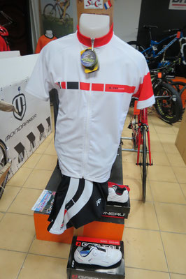 Maillot Noret cosmos zip complet ecorec  59€95  cuissard bret  59€95