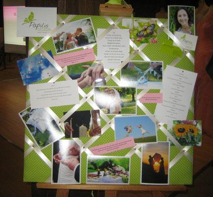 Impressionen mit Bildern, Trauspürchen, Liebesversprechen, Wunsch- und Liebesbanden und einem Gedicht
