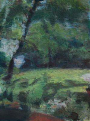 Arbre 25. By Nicolas Borderies, oil on canvas, 160 x 120 cm, 2019.