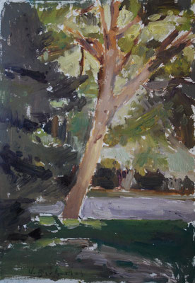 oil sketch, 20 x 15 cm, 2019. Outdoor allaprima.