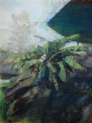 Arbre 15. By Nicolas Borderies, oil on canvas, 160 x 120 cm, 2019.