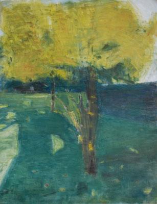 Arbre 21. By Nicolas Borderies, oil on canvas, 160 x 120 cm, 2019.