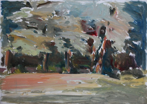 oil sketch, 15 x 20 cm, 2019. Outdoor allaprima.