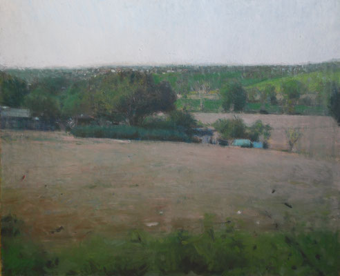 Paysage 1. By Nicolas Borderies, oil on canvas, 60 x 73 cm, 2019.