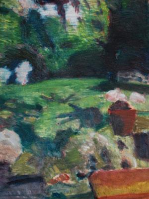 Arbre 26. By Nicolas Borderies, oil on canvas, 160 x 120 cm, 2019.