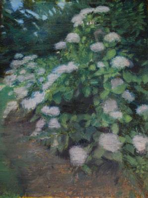 Arbre 16. By Nicolas Borderies, oil on canvas, 160 x 120 cm, 2019.