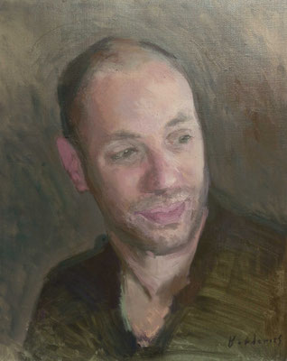 Portrait de Monsieur P, By Nicolas Borderies, oil on canvas, 46 x 38 cm, 2018.