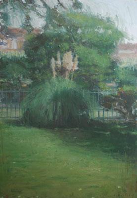 Arbre 1. By Nicolas Borderies, oil on canvas, 92 x 65 cm, 2018.