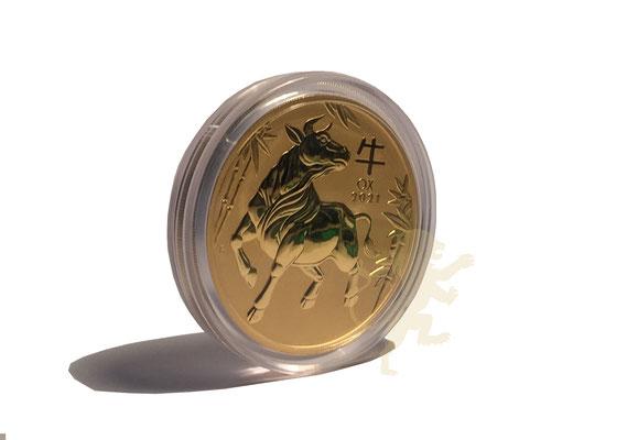 Australien Lunar 3 Ochse 2021 Gold 10 Unzen #1 , adelshaus