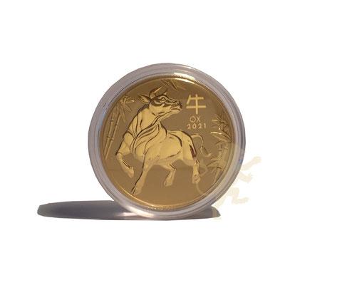 Australien Lunar 3 Ochse 2021 Gold 10 Unzen #3