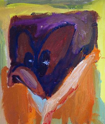 Portrait. Öl auf Leinwand 23 x 23 cm