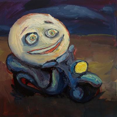 Motorrad  75 x 75 cm  oil on canvas