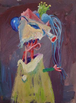 Portrait. Öl auf Leinwand 30 x 21 cm