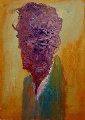Portrait. Öl auf Leinwand 22 x 30 cm