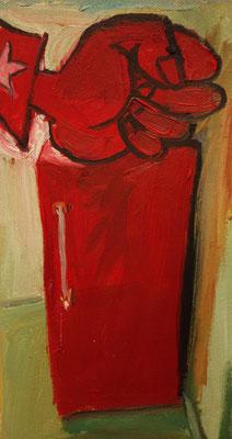 Majakowskijs Kühlschrank   30 x 20 cm  oil on canvas