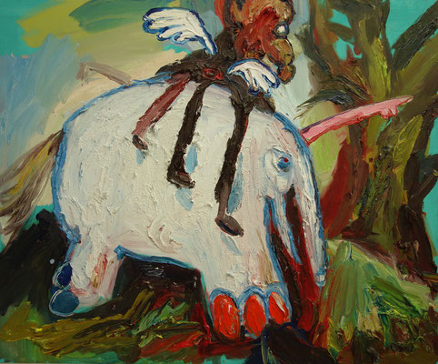 Elefant  90 x 110 cm  oil on canvas