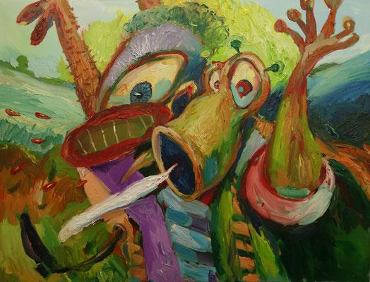 Die Hysterischen   130 x 170 cm  oil on canvas