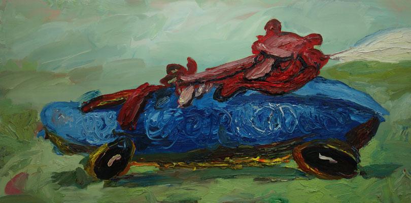 Car  90 x 180 cm  oil on canvas