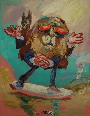 Dr. Surf  110 x 85 cm  oil on canvas