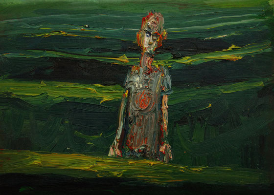 In den Hecken   30 x 45 cm  oil on canvas