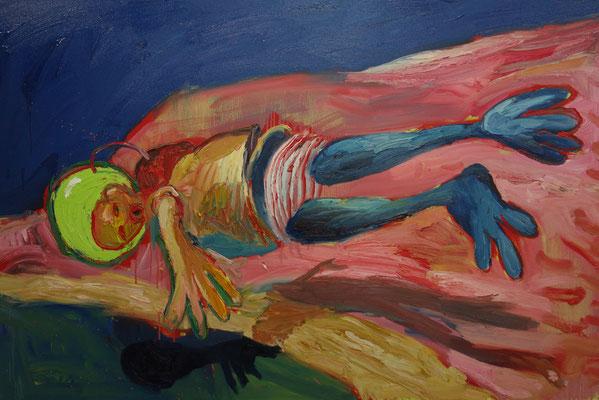 Kosmonaut   120 x 180 cm  oil on canvas