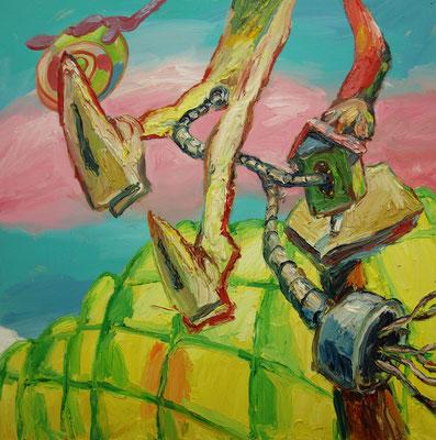 Senor Utjug   85 x 85 cm  oil on canvas