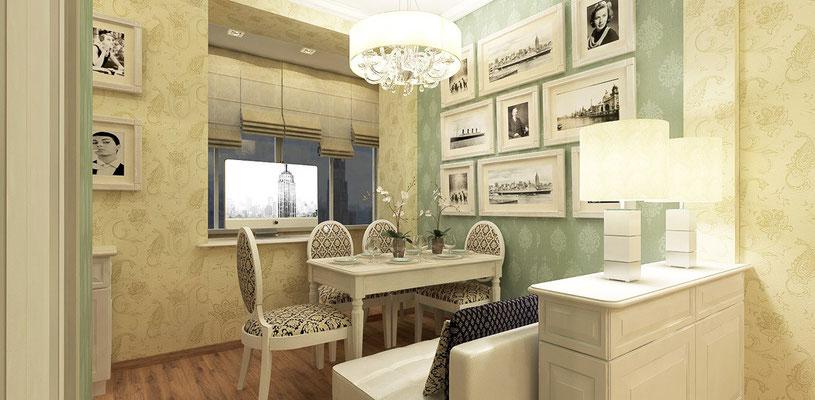 Маленькая квартира в классическом стиле