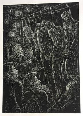 5.  Sechs junge Russen wurden Weihnachten 1944 im KZ Flossenbürg wegen Fluchtversuch gegenüber dem erleuchteten Christbaum öffentlich erhängt.