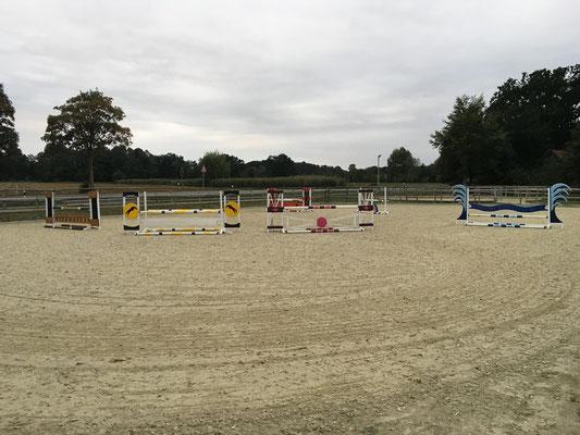 Training auf dem Außenplatz (25x40m)