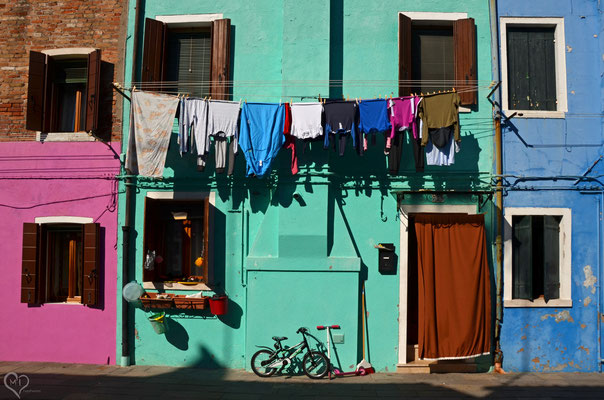 >Waschtag in Burano I<