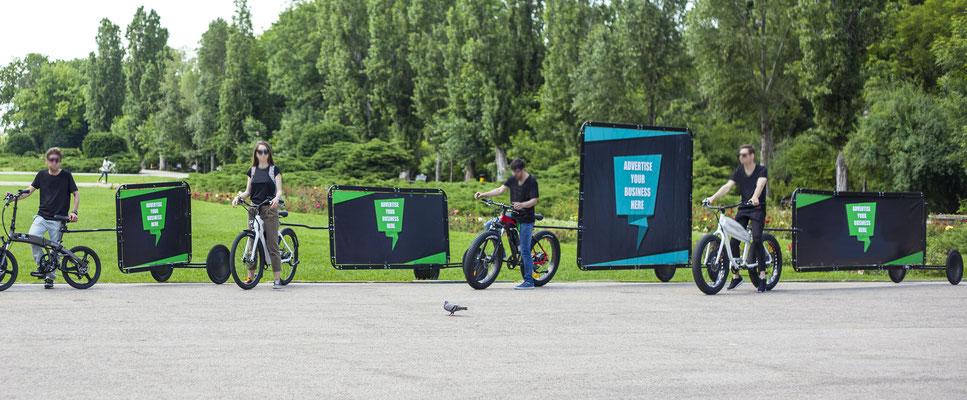 Vélo publicitaire Normandie
