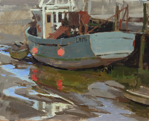 Wet mud and reflections, Brancaster Staithe  (SOLD)