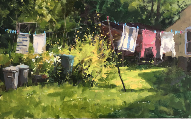 Washing line at the Old Manor, Ludham (SOLD)