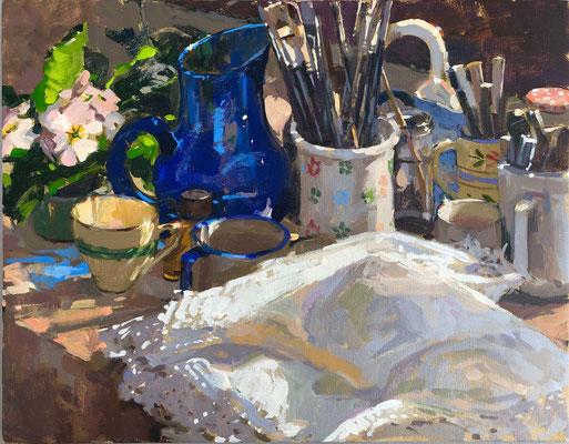 Studio table in spring