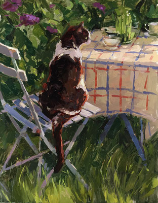 Lola in the garden at Old Lawn House (SOLD)