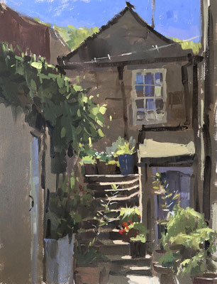 Cottage steps, Staithes (SOLD)