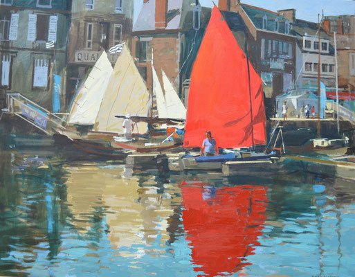 Sails up in harbour  (collection of The Artist Publishing Co)