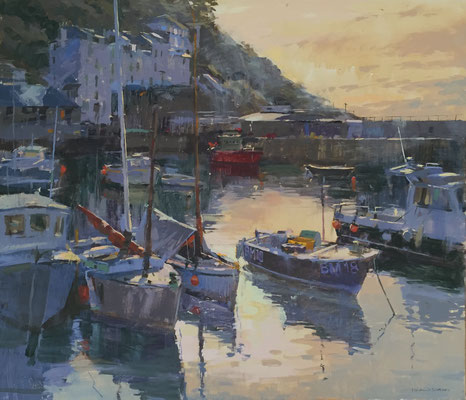 Evening light, Polperro harbour (private collection)