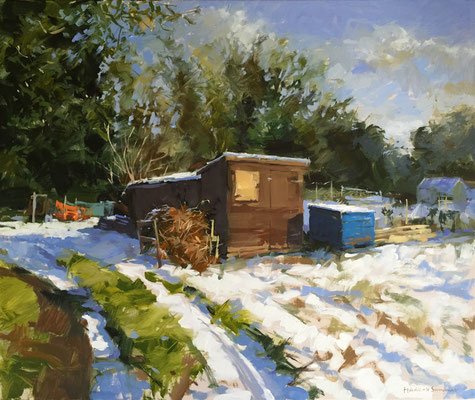 The thaw, Drove allotments (SOLD)