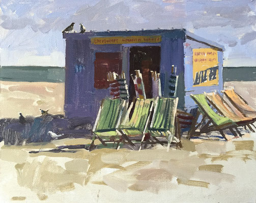 Dusty's deckchair shed (private collection)