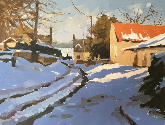 Snow in the lane (SOLD)