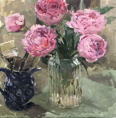 Peonies and brushes (SOLD)