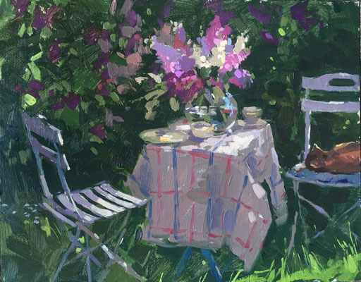 Under the lilacs (SOLD)