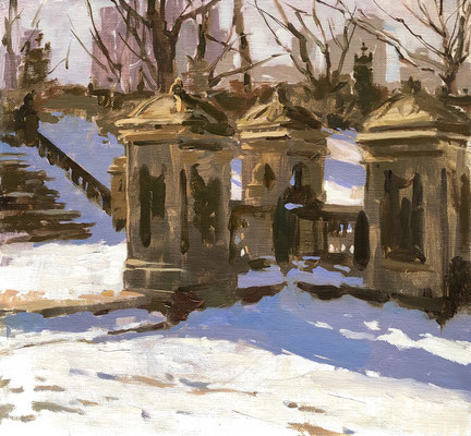 Snow shadows in Central Park (SOLD)
