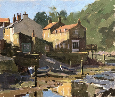 Morning light in the beck, Staithes (SOLD)